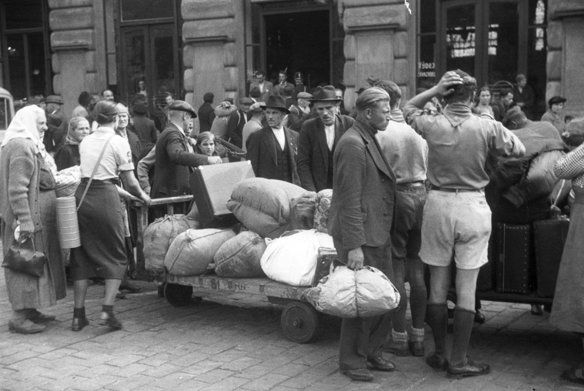 Uprchlíci ze Sudet v Praze