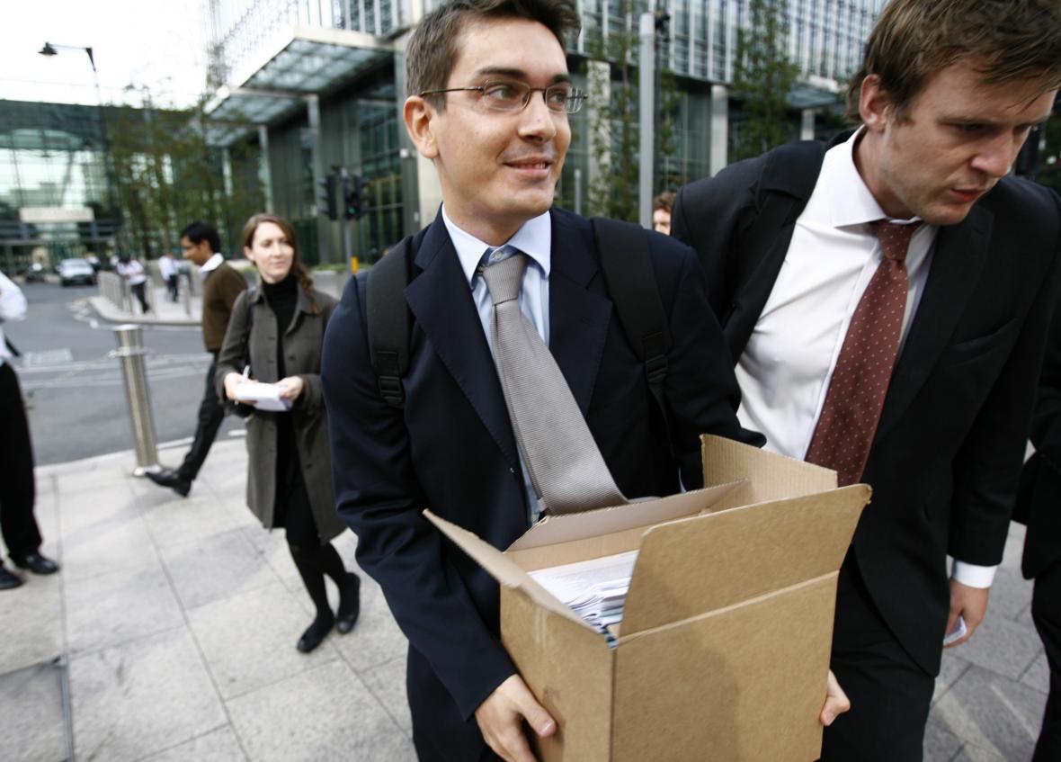 Hned 15. září opouštěli zaměstnanci Lehman Brothers kanceláře s krabicemi svých věcí