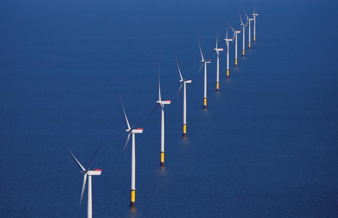 Pobřežní větrná farma u Anglie