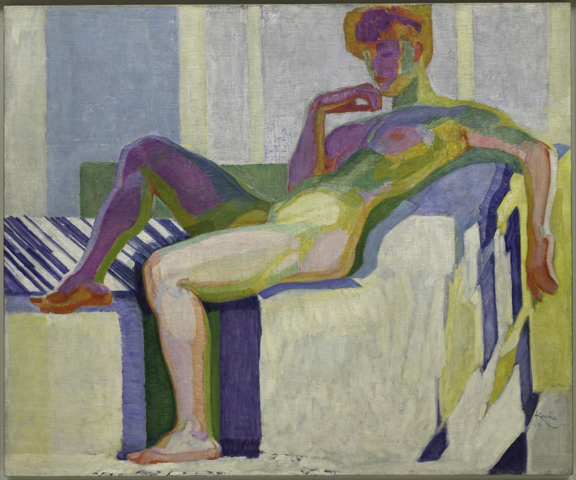 František Kupka / Velký akt (Plochy podle barev), 1910