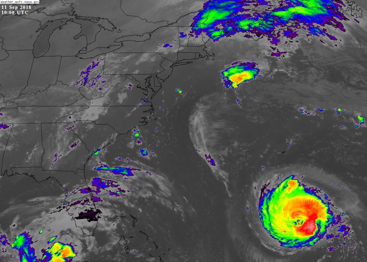 Hurikán Florence se blíží k východu USA