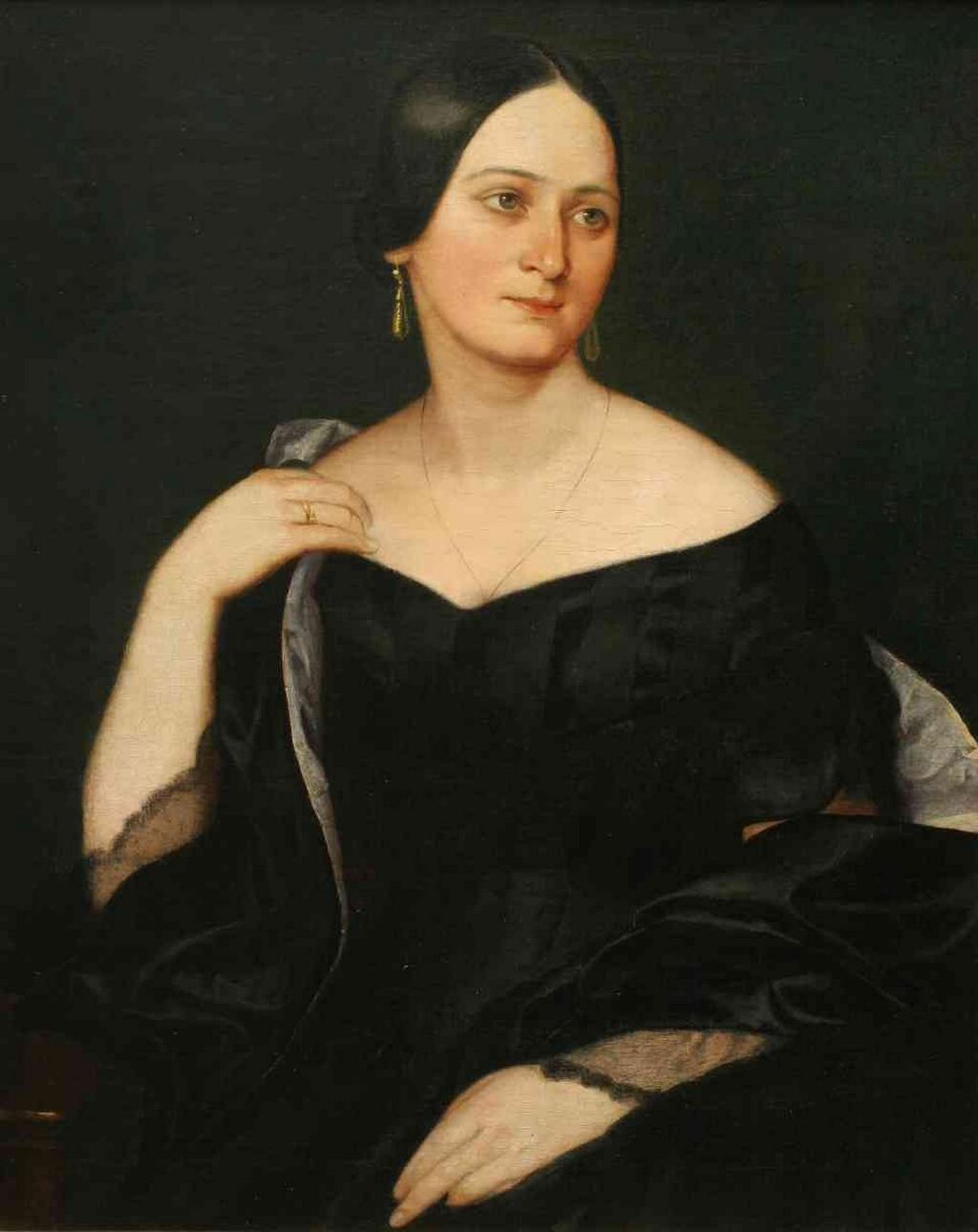 Josef Hellich / portrét Boženy Němcové, 1845