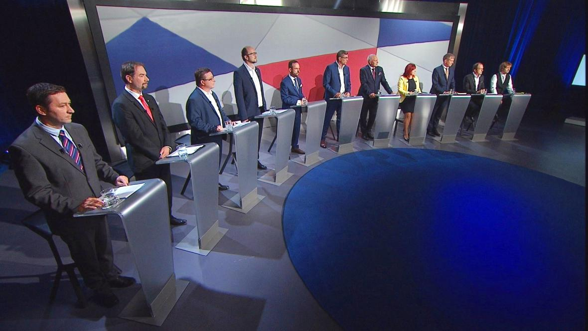 Kandidáti a kandidátka na Ostravské primátorské křeslo v předvolebním vysílání ČT