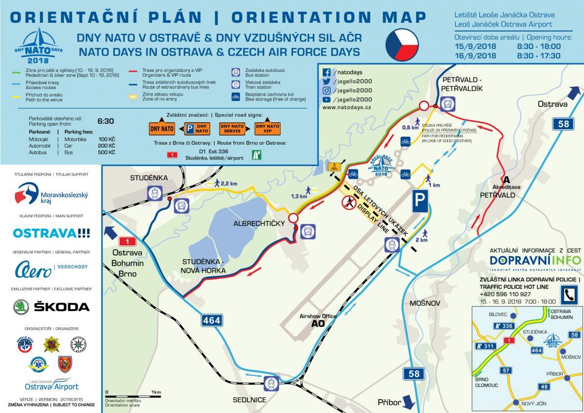 Orientační plán pro akci Dny NATO v Ostravě & Dnech Vzdušných sil Armády České republiky