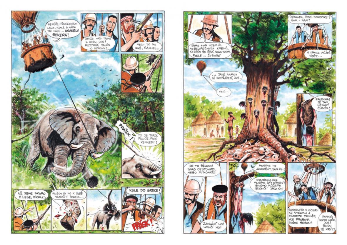 Ukázka z komiksu Pět neděl v baloně