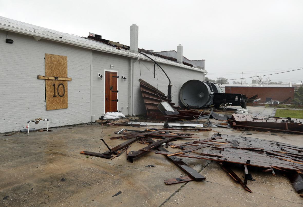 Poničený dům ve Wilmingtonu