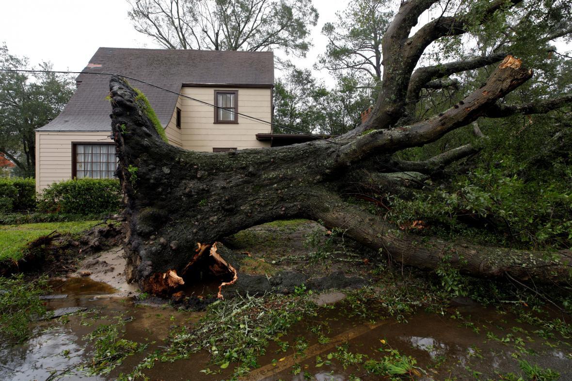 Následky hurikánu Florence ve Wilmingtonu