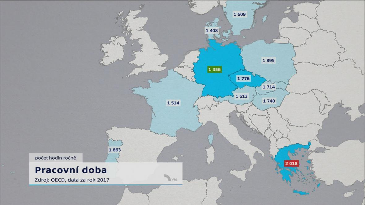 Pracovní doba v Evropě