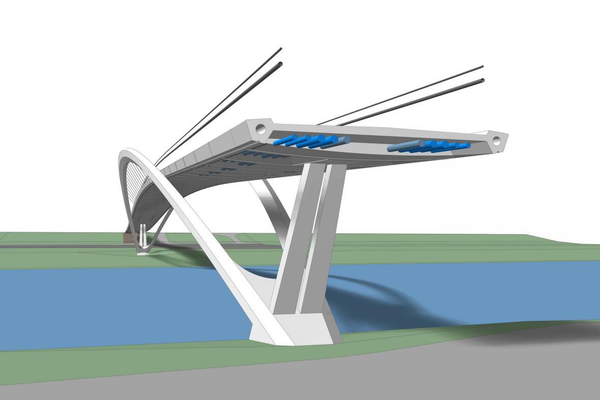 Vítězný návrh nové lávky v Nymburce