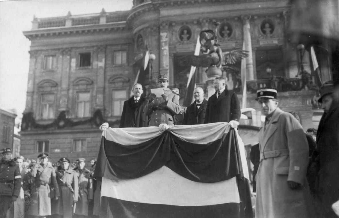 Slavnostní přesídlení ministerstva pro Slovensko do Bratislavy (4. února 1919)