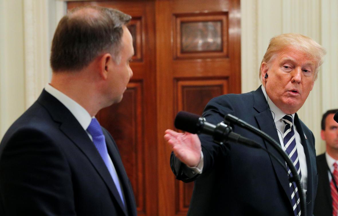 Duda a Trump po jednání v Bílém domě