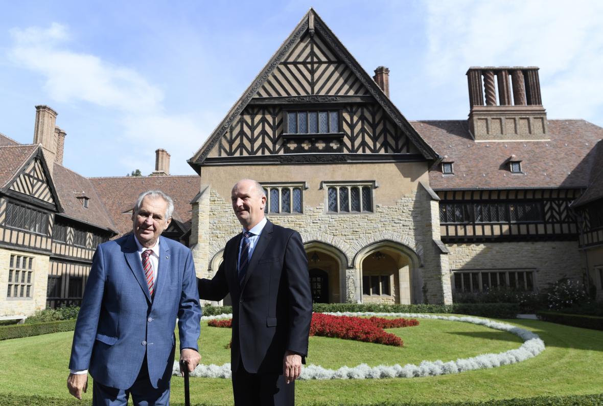 Prezident Miloš Zeman se v Německu setkal i s ministerským předsedou Braniborska Dietmarem Woidtkem