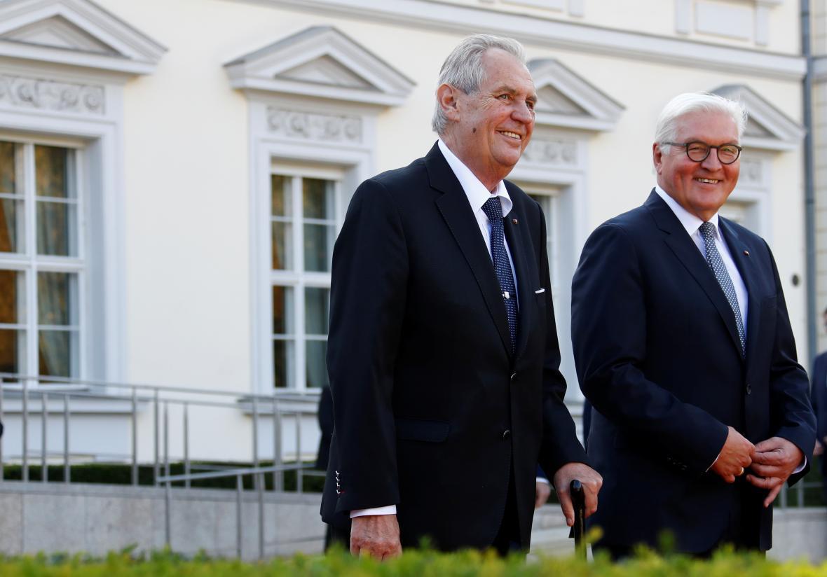 Miloš Zeman a Frank-Walter Steinmeier