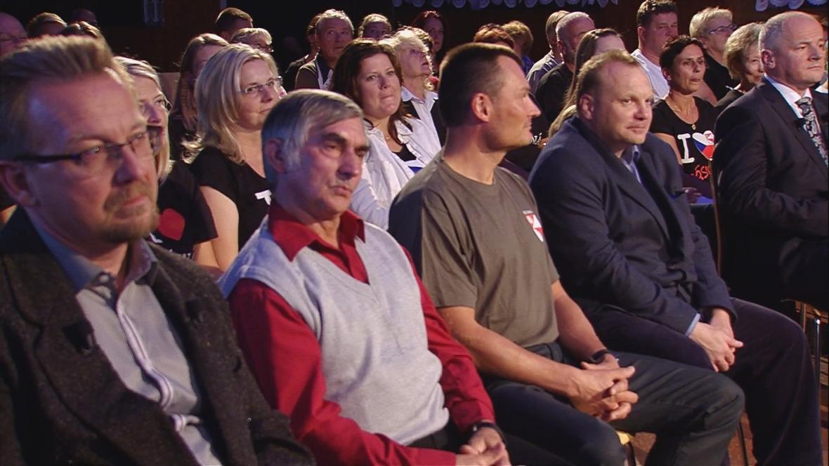 V obecenstvu zasedli místní občané
