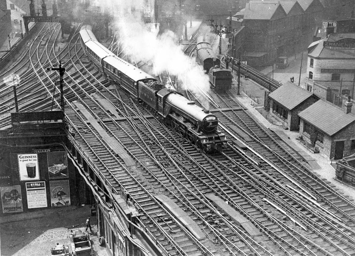 Vlak Flying Scotsman ve 30. letech