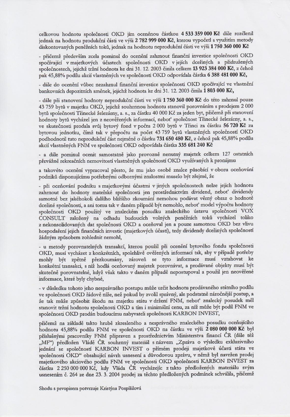 Rozsudek v kauze OKD – strana 2