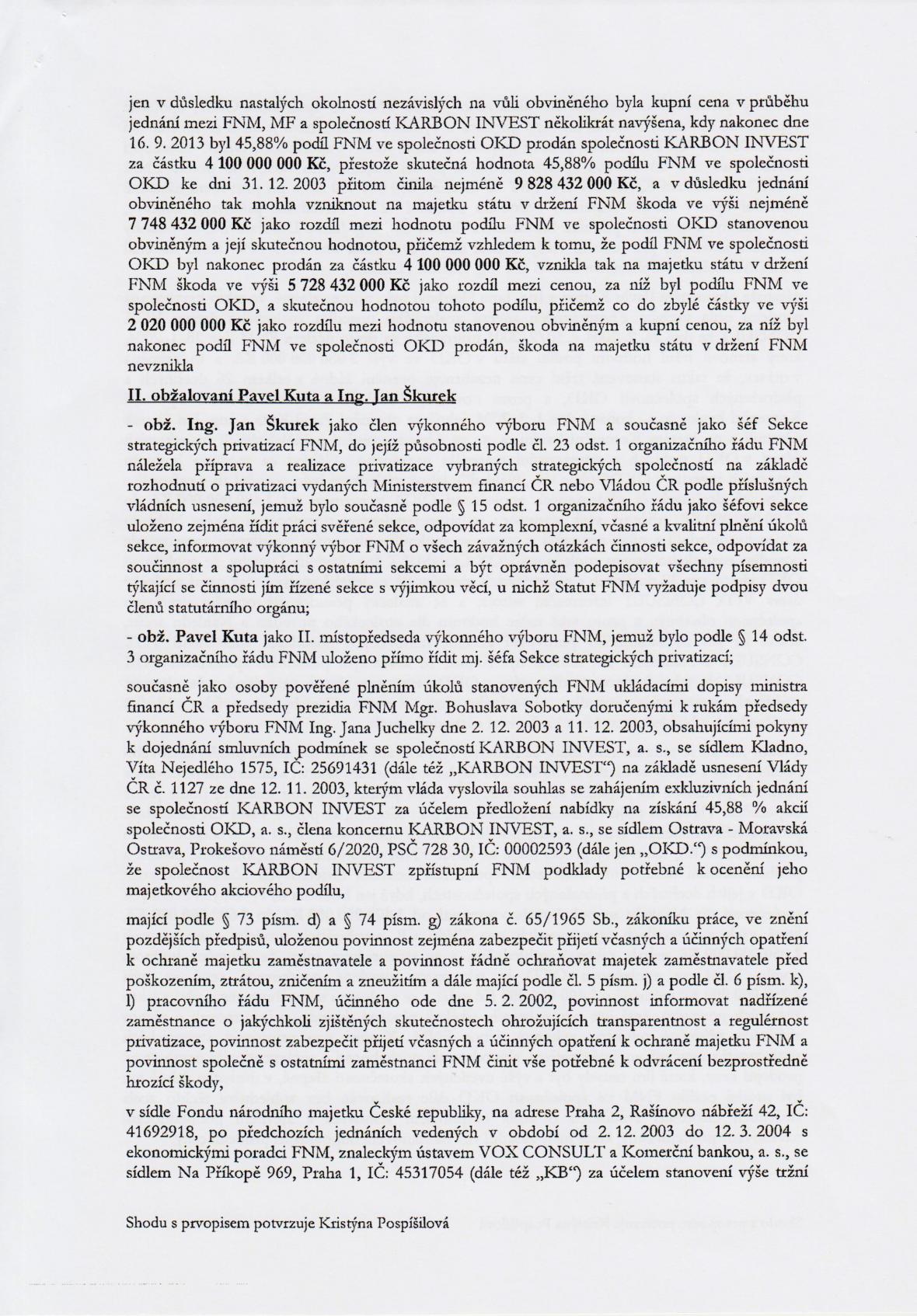 Rozsudek v kauze OKD – strana 3