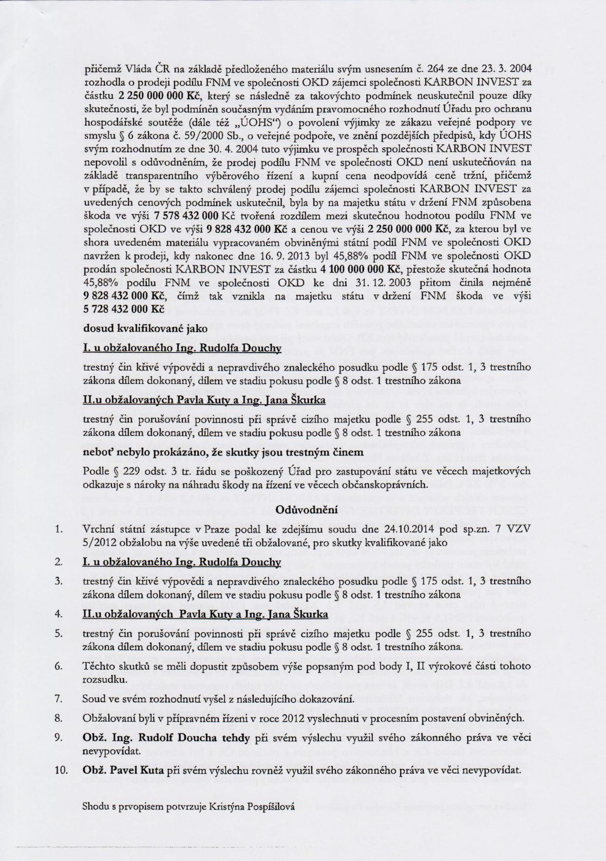 Rozsudek v kauze OKD – strana 5