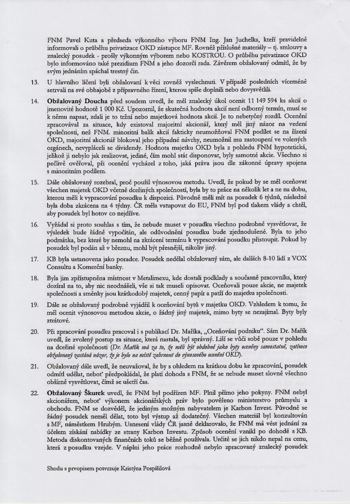 Rozsudek v kauze OKD – strana 8