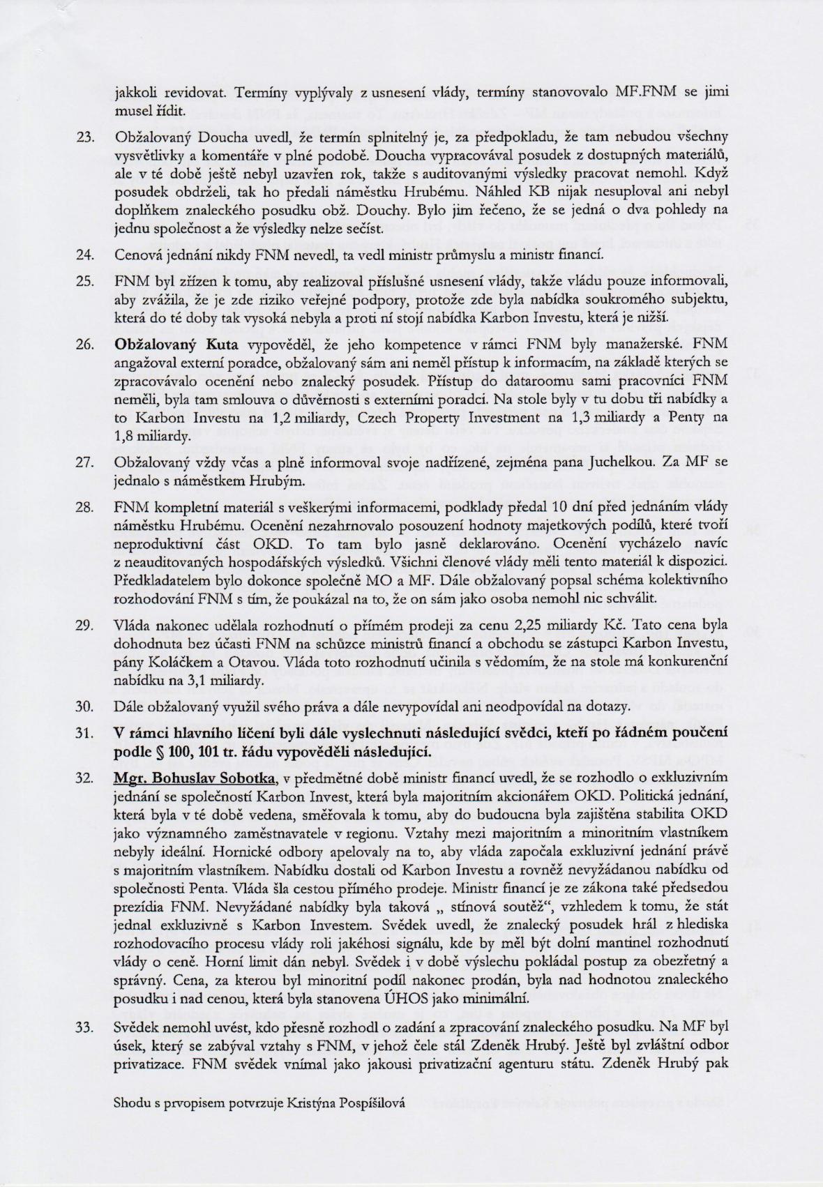 Rozsudek v kauze OKD – strana 9