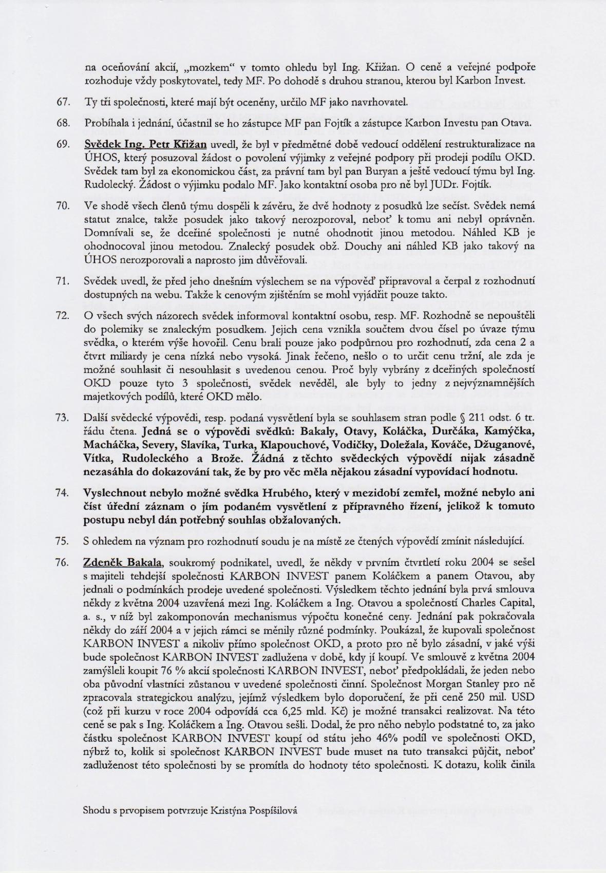 Rozsudek v kauze OKD – strana 13
