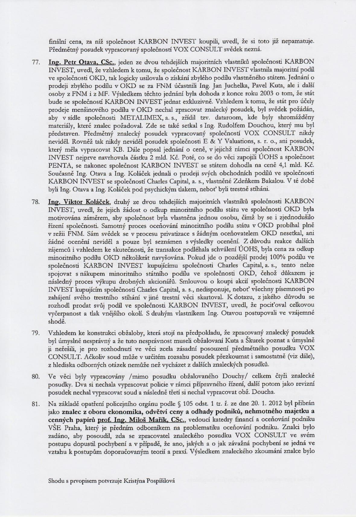 Rozsudek v kauze OKD – strana 14