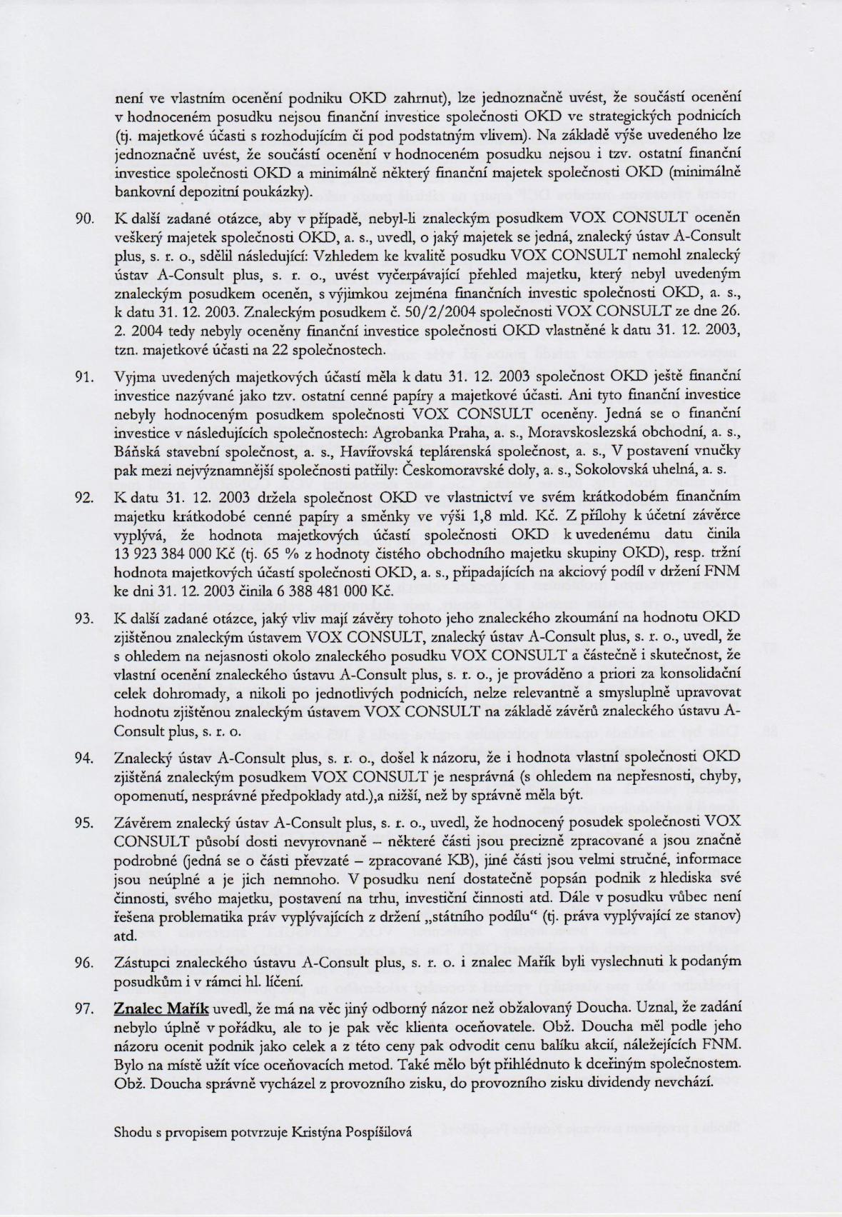 Rozsudek v kauze OKD – strana 16