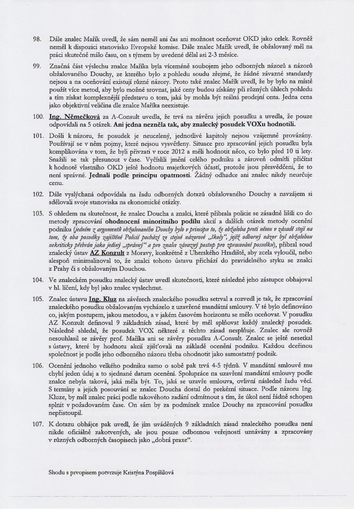 Rozsudek v kauze OKD – strana 17