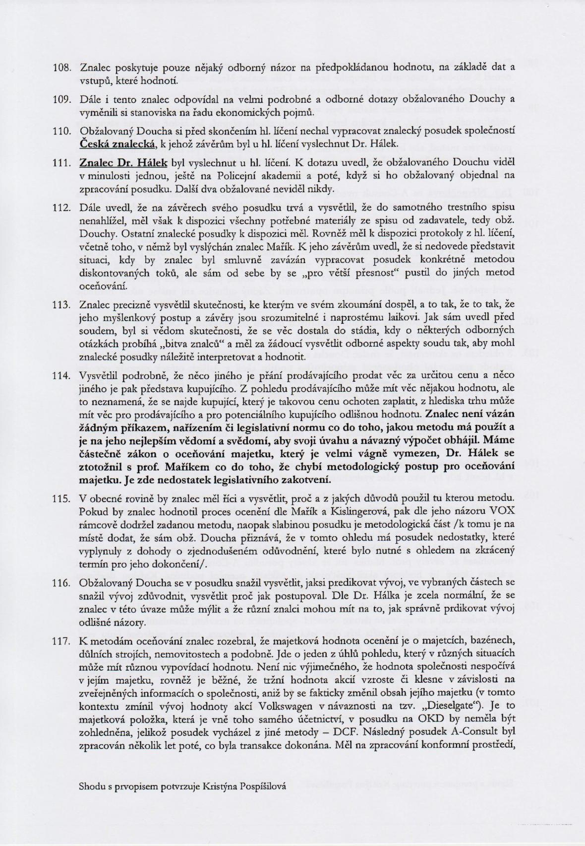 Rozsudek v kauze OKD – strana 18