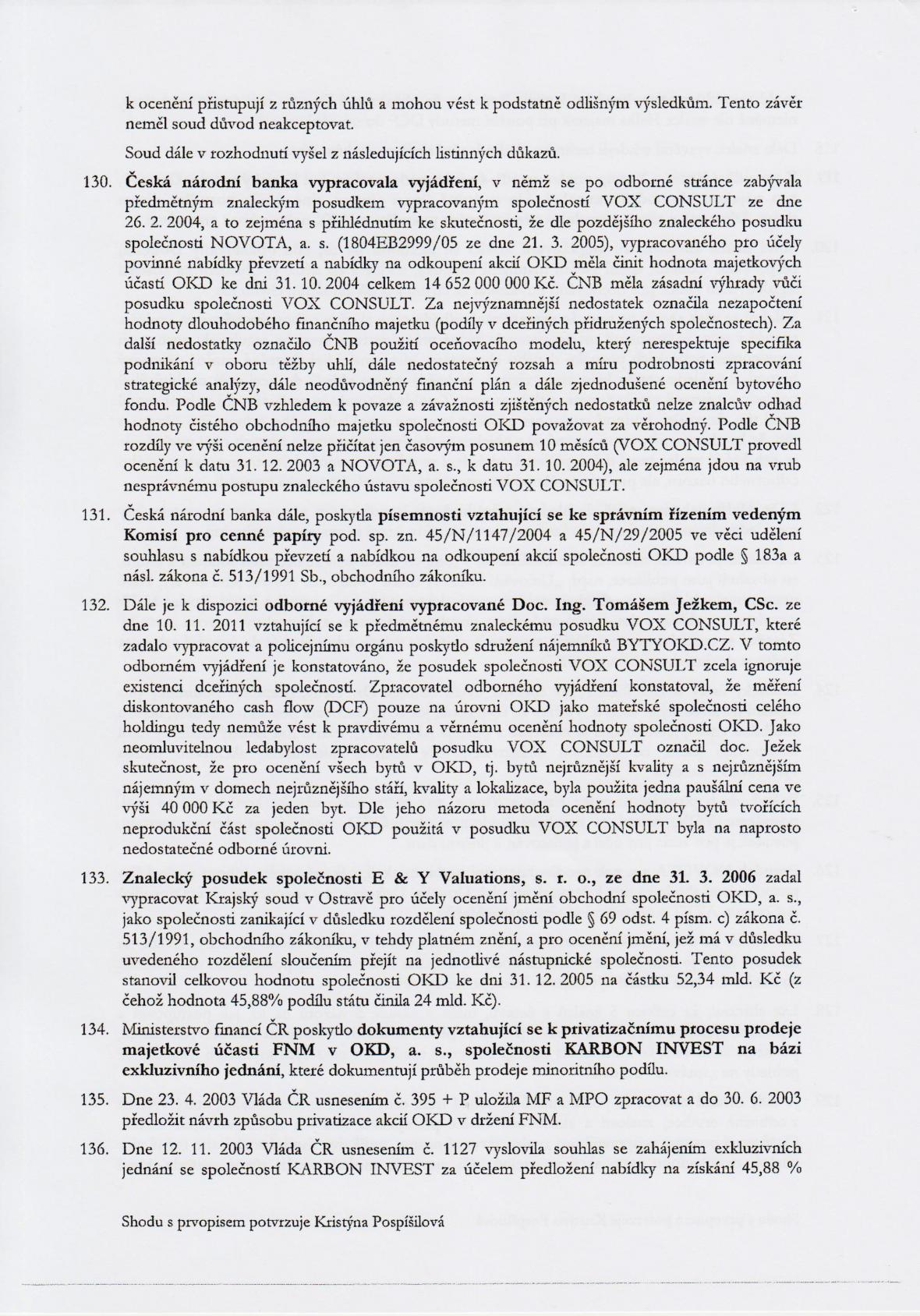 Rozsudek v kauze OKD – strana 20