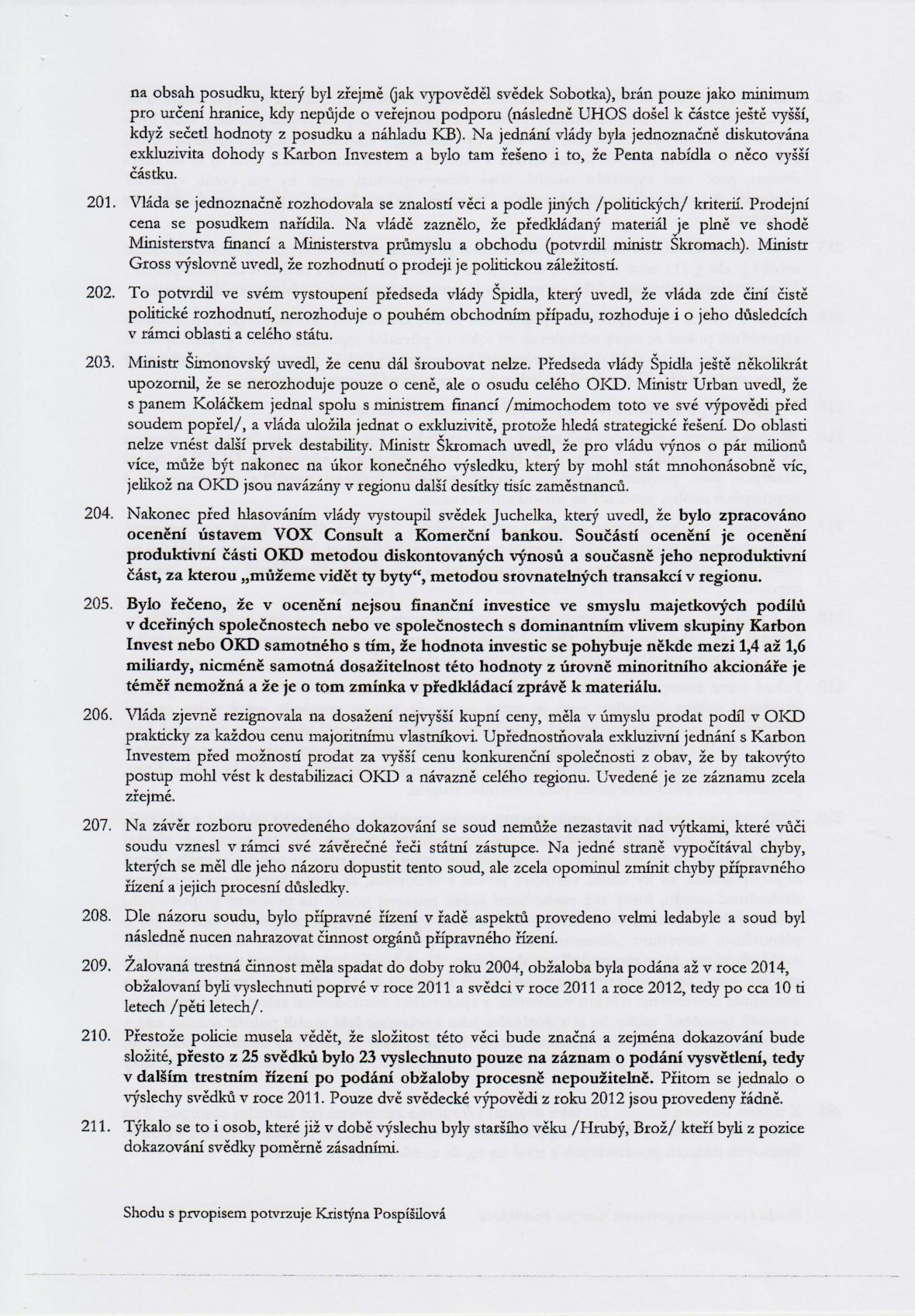 Rozsudek v kauze OKD – strana 27