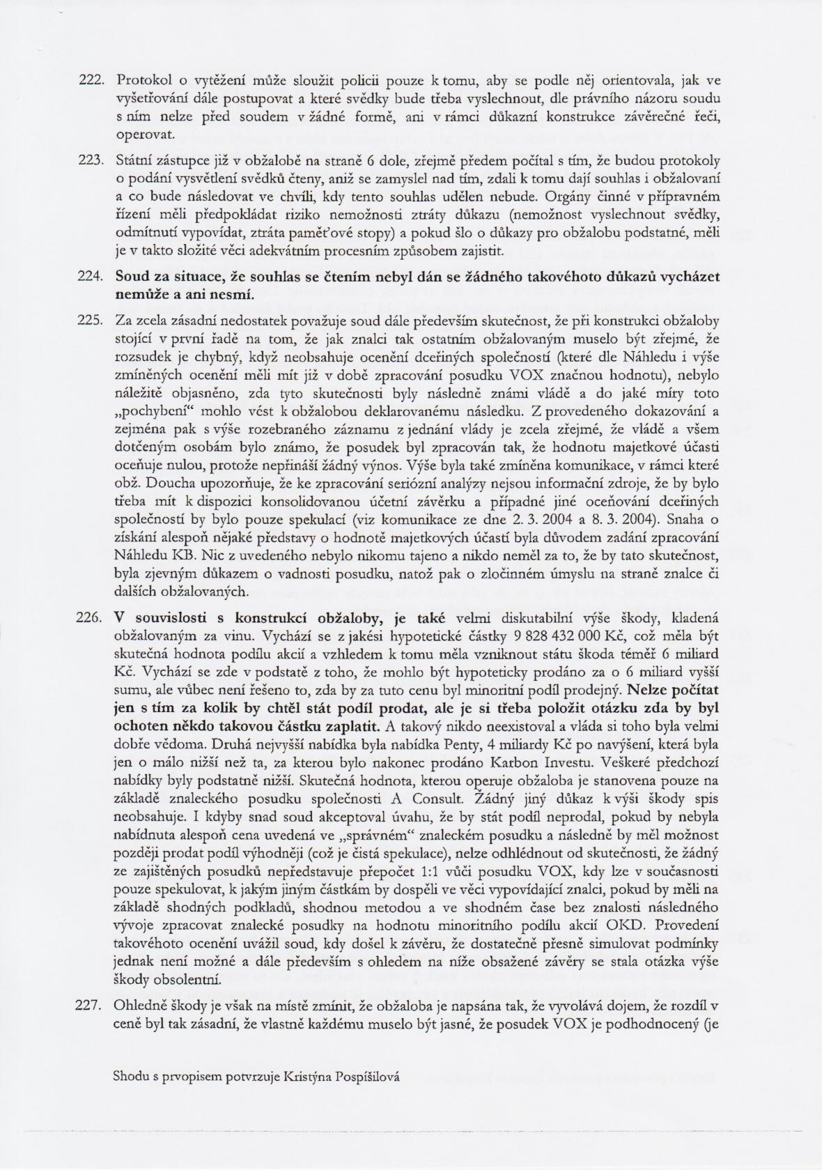 Rozsudek v kauze OKD – strana 29