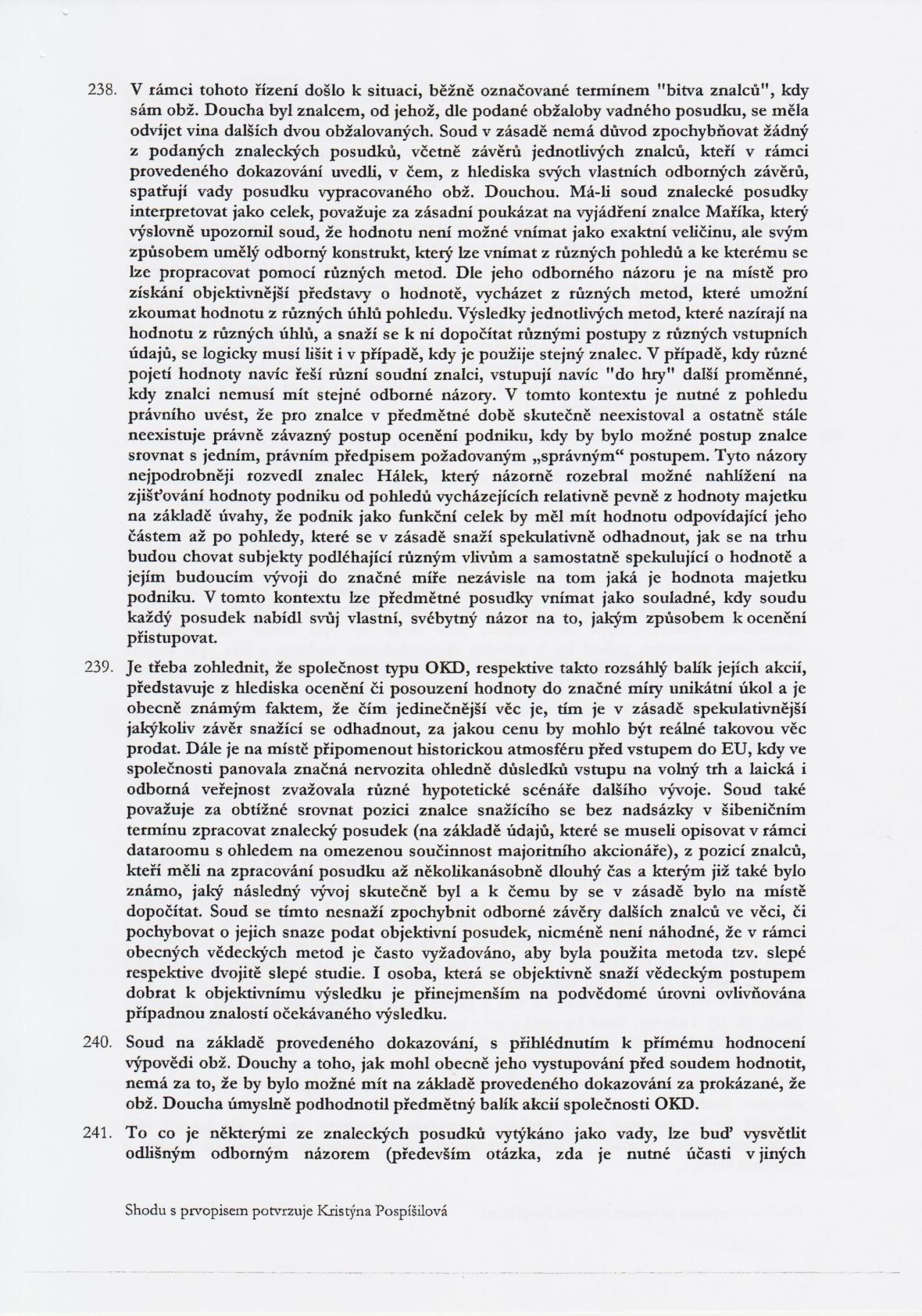 Rozsudek v kauze OKD – strana 31