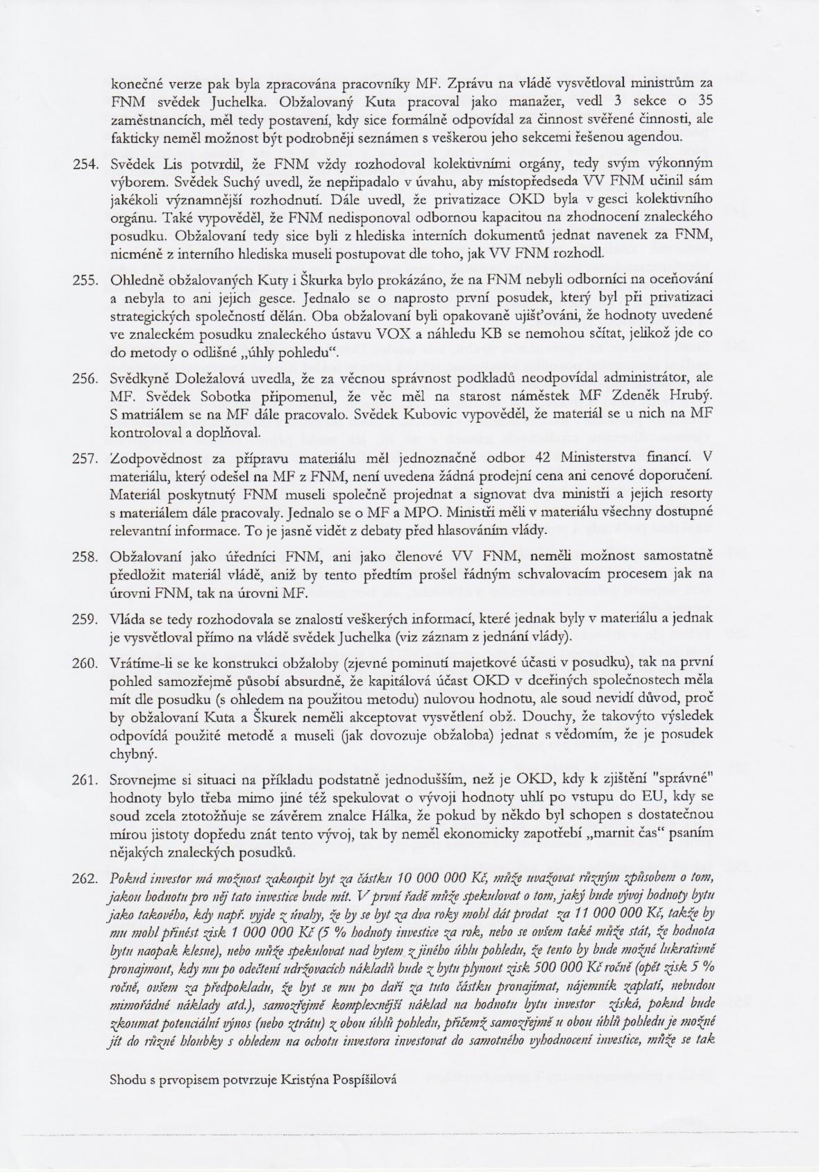 Rozsudek v kauze OKD – strana 34