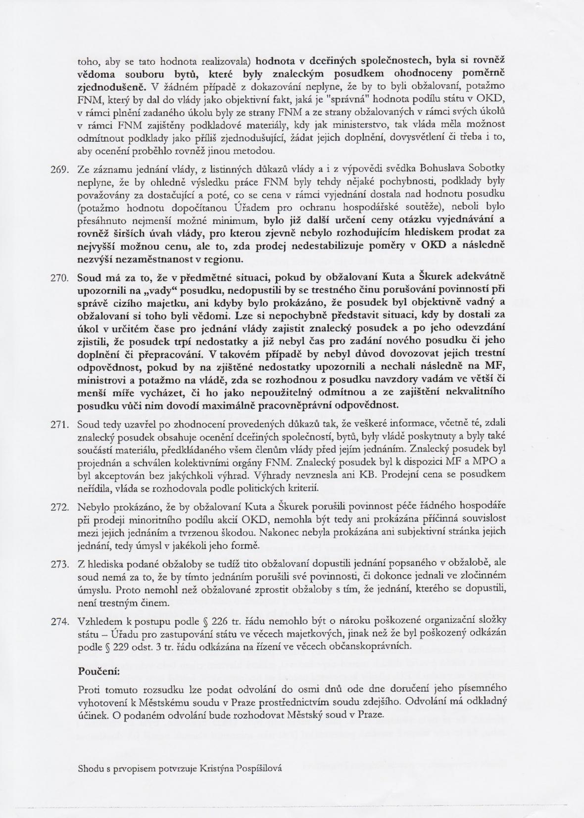 Rozsudek v kauze OKD – strana 36