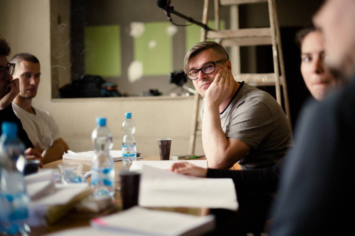 Jaroslav Rudiš při čtené zkoušce k filmu Národní třída