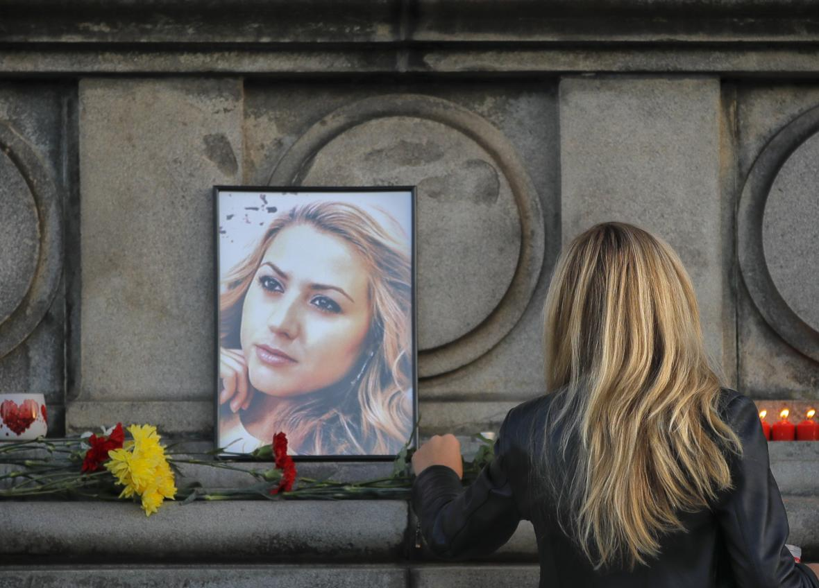 Pietní akce k uctění památky zavražděné bulharské novinářky