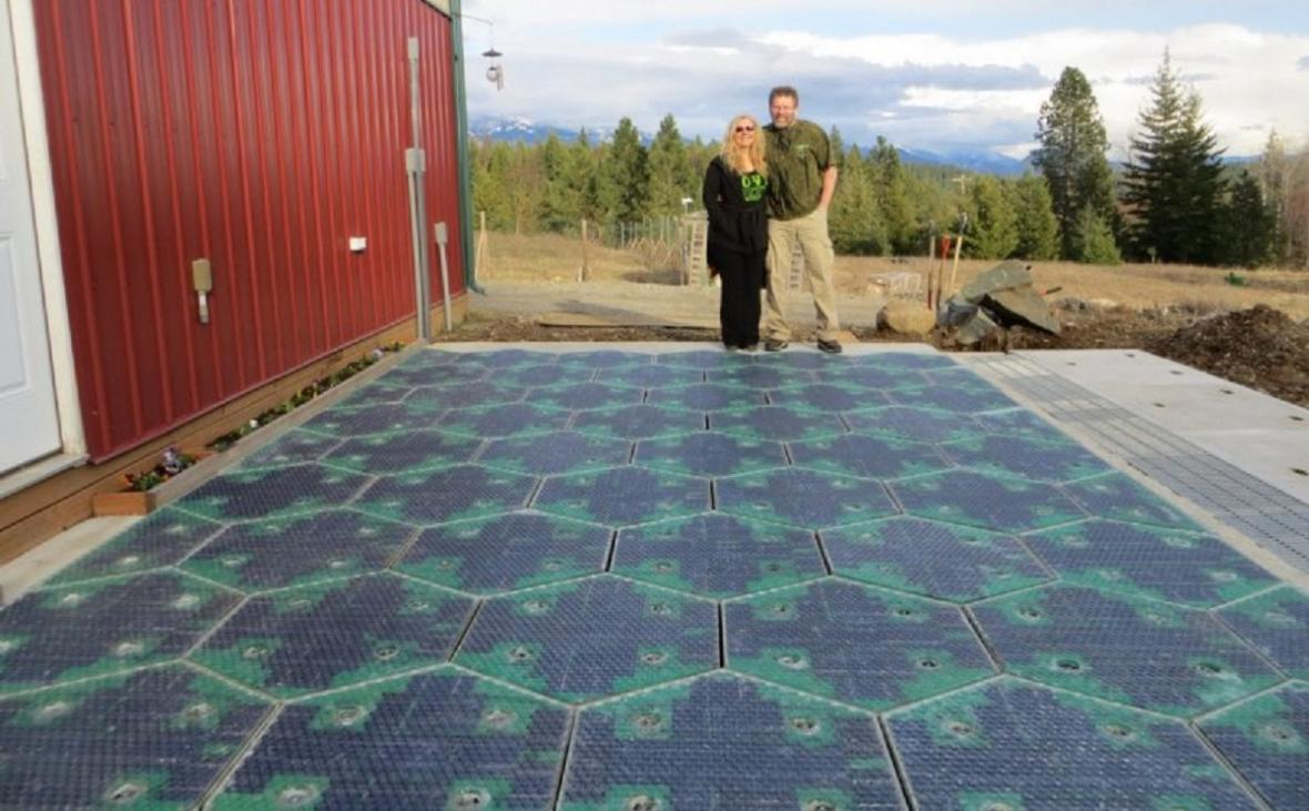 Prototyp solární silnice v USA