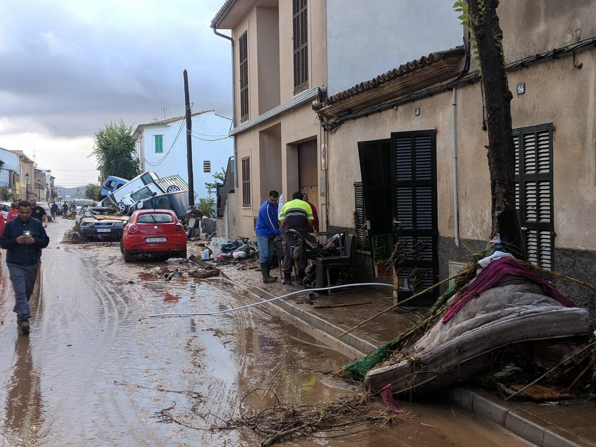 Následky povodní na Mallorce