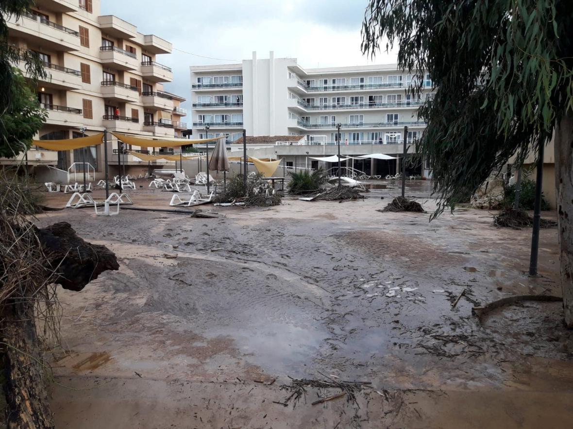 Následky povodně na Mallorce