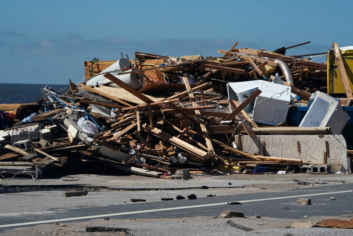 Zničená Mexico Beach