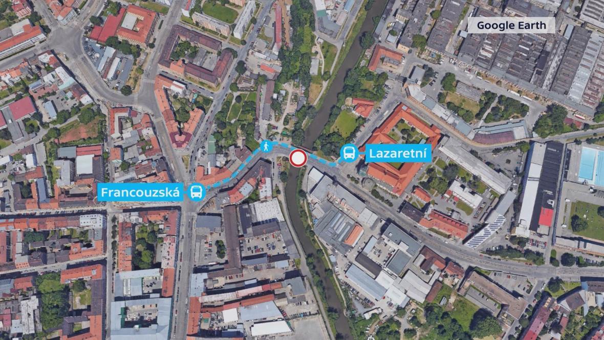 V místě vzniknou dvě náhradní zastávky pro cestující MHD