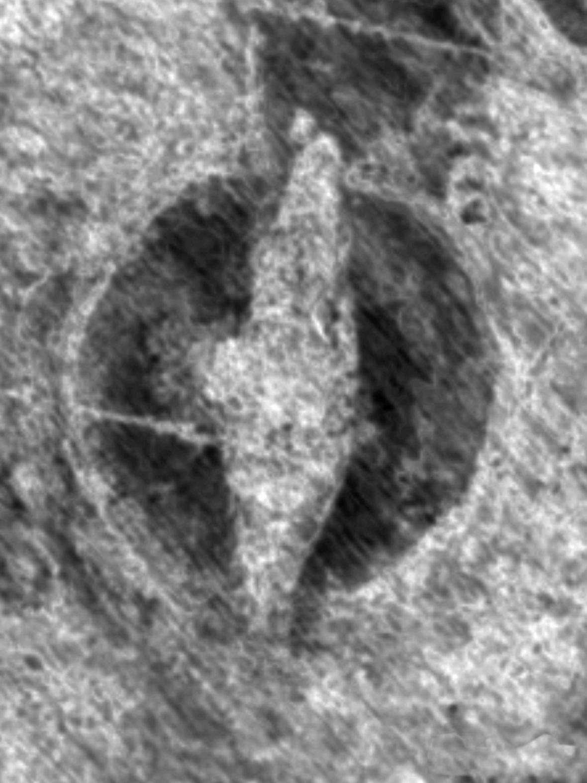 Georadarový snímek neznámé vikinské lodi