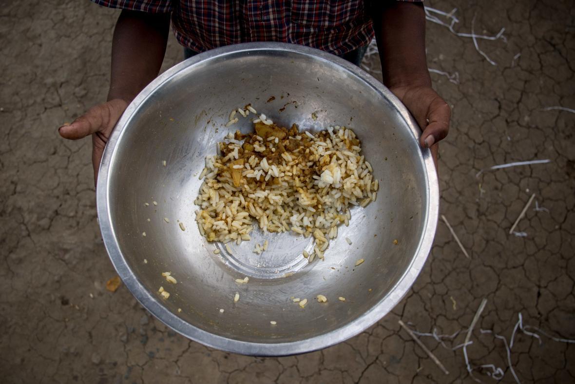 Typický oběd Čoudhuryů