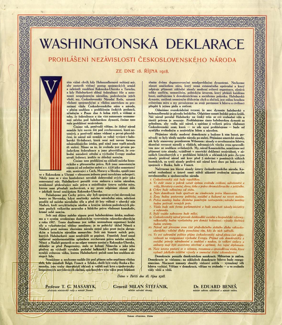 Washingtonská deklarace