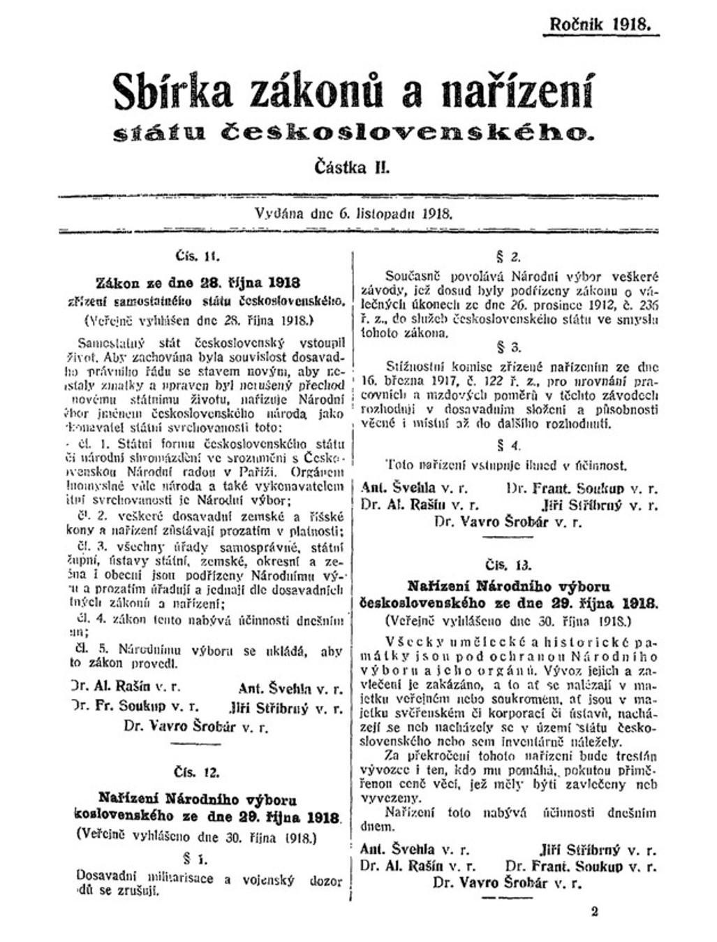 Zákon z 28. října 1918