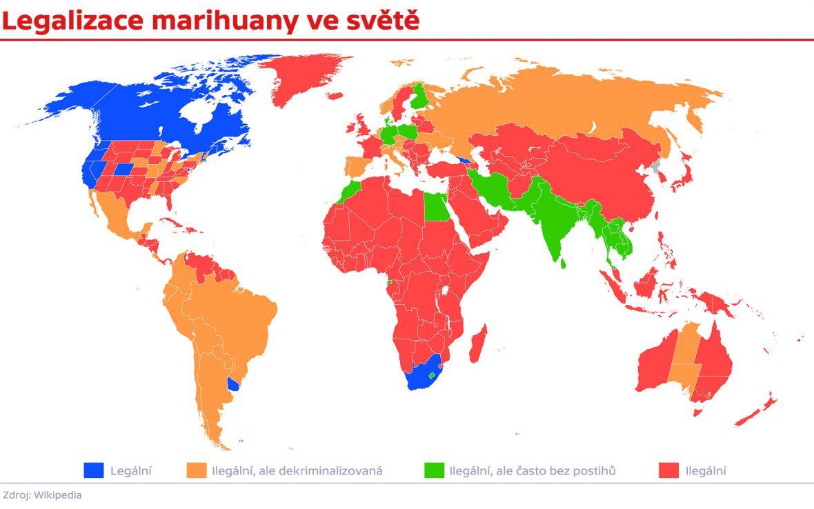 Legalizace marihuany ve světě