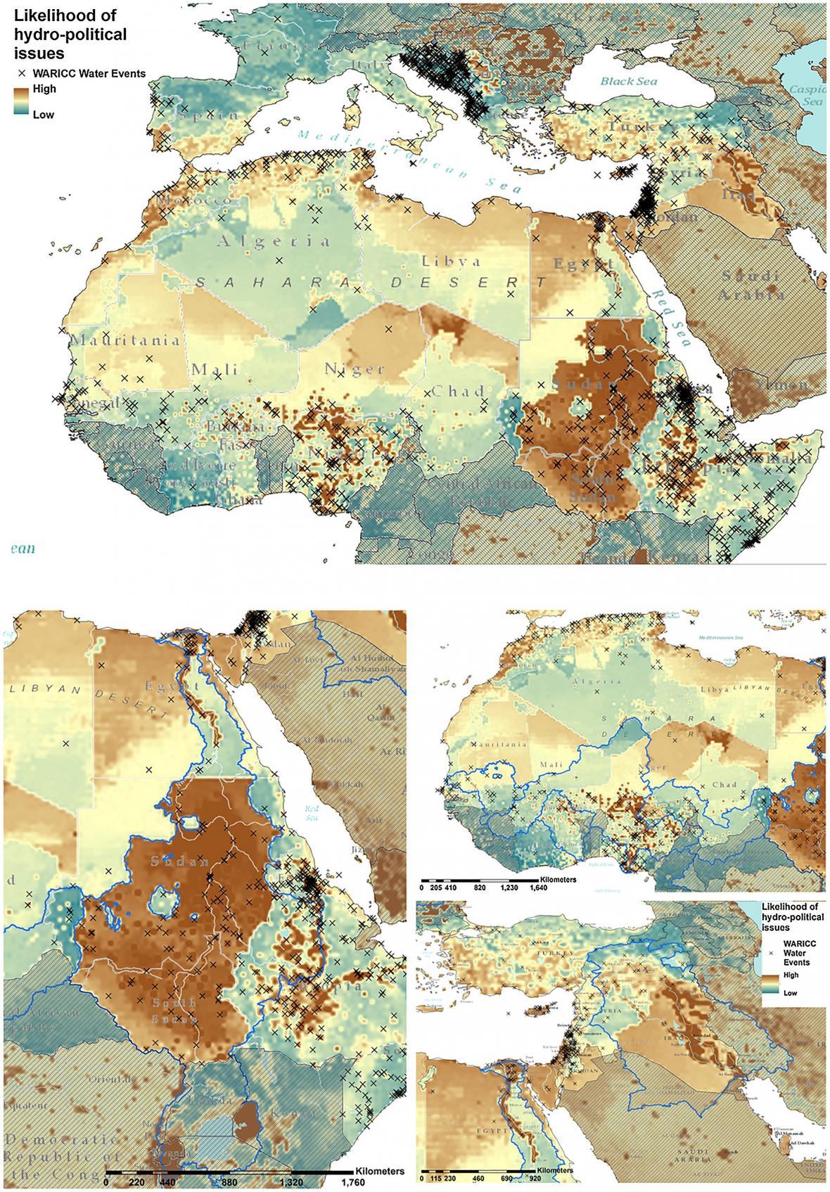 Detailní rozbor některých oblastí ohrožených nedostatkem vody