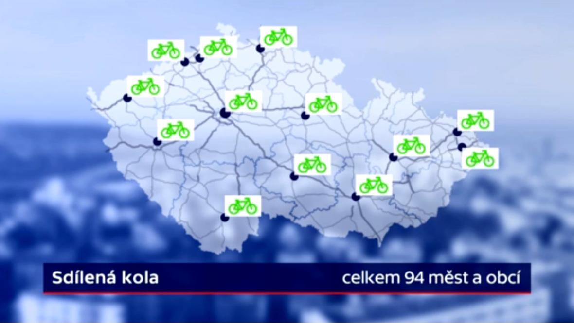 Možnost sdílení kol v ČR
