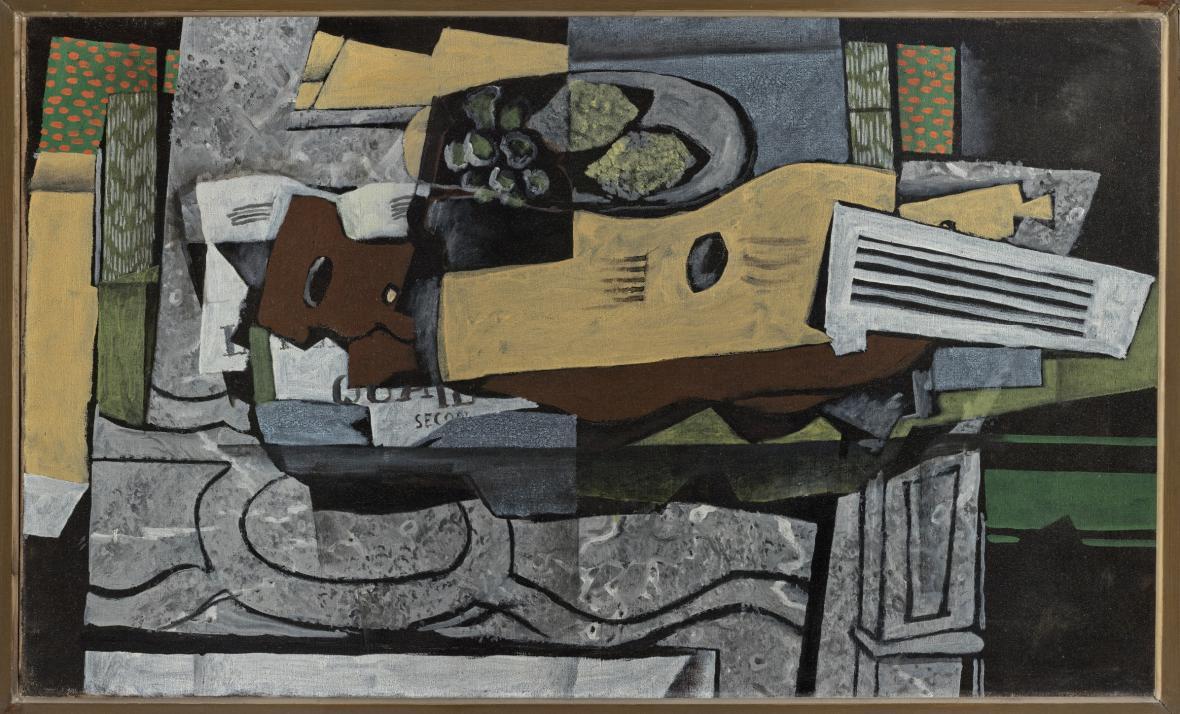 Georges Braque, Zátiší s kytarou, 1921–1922
